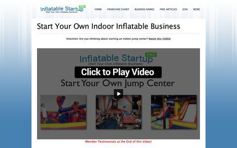Screenshot of Signup Page inflatablestartup.com - Start Your Own Indoor Inflatable Business or Jump Center   Starting an Inflatable Business - captured Nov. 6, 2018