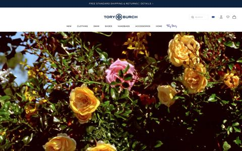 Screenshot of Home Page toryburch.eu - Tory Burch | Women's Clothing, Dresses, Shoes, Handbags & Accessories - captured Oct. 8, 2018