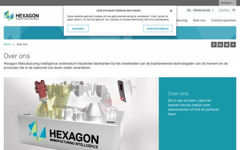 Screenshot of About Page hexagonmi.com - Over ons | Hexagon Manufacturing Intelligence - captured Nov. 25, 2017