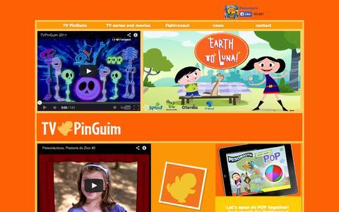 Screenshot of Home Page tvpinguim.com - TV PinGuim - captured Sept. 30, 2014