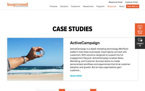 Screenshot of Case Studies Page bugcrowd.com - Case Studies | Bugcrowd - captured Jan. 17, 2020