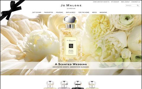 Screenshot of jomalone.co.uk - Bridal | Jo Malone London - captured Oct. 22, 2017