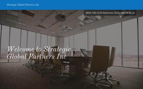 Screenshot of Home Page strategic-global-partners.com - strategic global partners - captured Nov. 8, 2017
