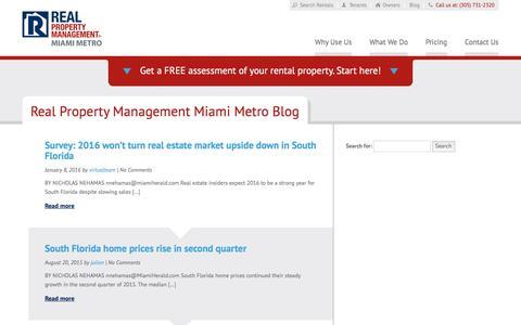 Screenshot of Blog rpmmiamimetro.com - Miami FL Property Management Blog   Real Property Management Miami Metro - captured July 8, 2018