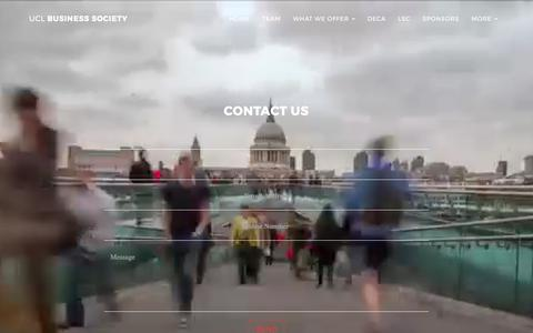 Screenshot of Contact Page uclubusinesssociety.com - UCL Business Society - captured Sept. 30, 2017