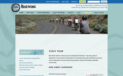 Screenshot of Team Page bikeworks.org - Staff Team - Bike Works - captured Sept. 30, 2014