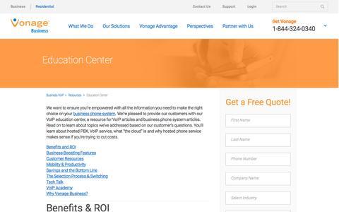 Education Center | Vonage Business