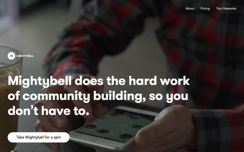 Screenshot of Home Page mightybell.com - Mightybell: Build a community and a business on mobile - captured March 1, 2016
