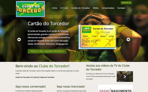 Screenshot of Home Page clubedotorcedor.com.br - .: Clube do Torcedor - captured Oct. 2, 2014