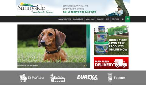 Screenshot of Home Page sunnysideinstantlawn.com.au - Instant Lawn Adelaide   Sunnyside Instant Lawn - captured Feb. 25, 2016