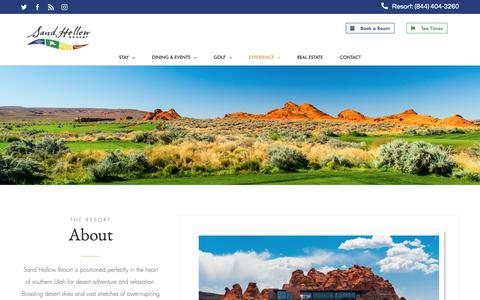 Screenshot of About Page sandhollowresorts.com - About - Sand Hollow Resort - captured Dec. 17, 2018