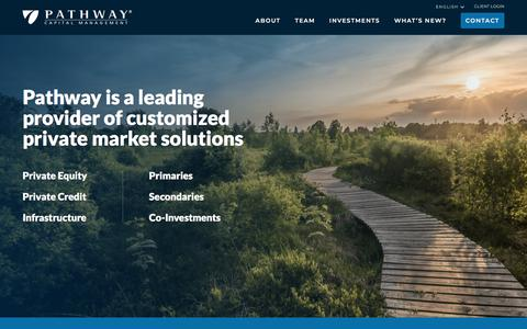Screenshot of Home Page pathwaycapital.com - Pathway Capital Management - captured Aug. 28, 2019