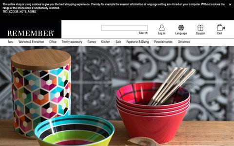 Screenshot of Home Page remember.de - REMEMBER® | REMEMBER® - captured Nov. 13, 2018