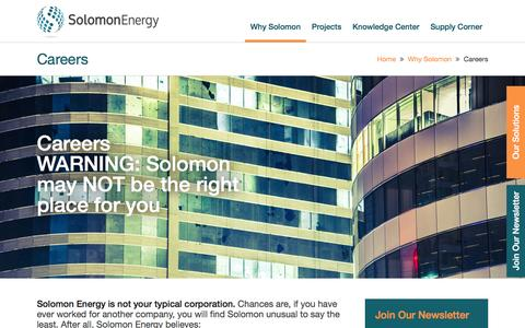 Screenshot of Jobs Page solomonenergy.com - WARNING: Solomon may NOT be the right place for you - captured Aug. 14, 2016