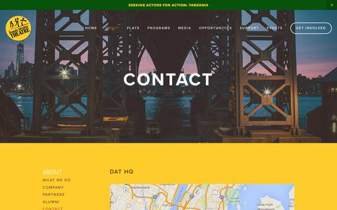 Screenshot of Contact Page dramaticadventure.com - Contact — Dramatic Adventure Theatre - captured Feb. 9, 2016