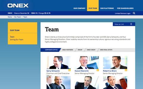 Screenshot of Team Page onex.com - ONEX | Team - captured Dec. 6, 2016