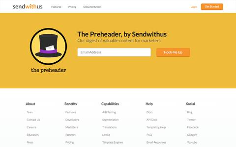 The Preheader by Sendwithus · Useful email guidance and advice · sendwithus