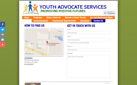 Screenshot of Privacy Page Contact Page yasohio.org - Contact Us - captured Nov. 28, 2016