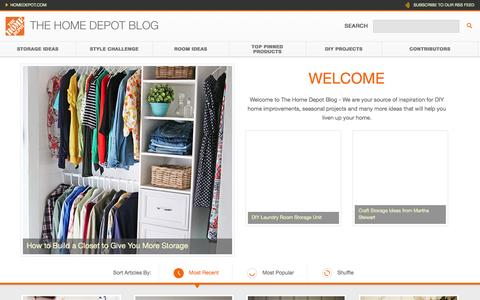 Screenshot of Blog homedepot.com - The Home Depot - captured Jan. 25, 2016