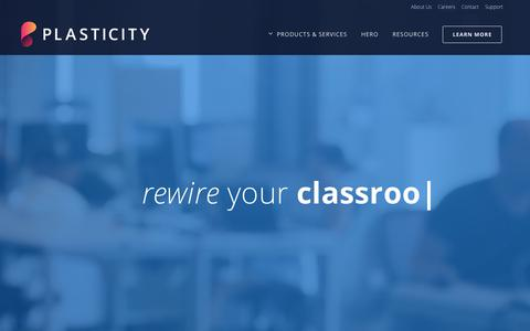Screenshot of Home Page plasticitylabs.com - Plasticity Labs - Improving Workplace Culture & Employee Well-being - captured July 19, 2018