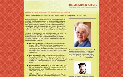 Screenshot of Home Page remember-media.com - REMEMBER MEdia - captured Oct. 9, 2014