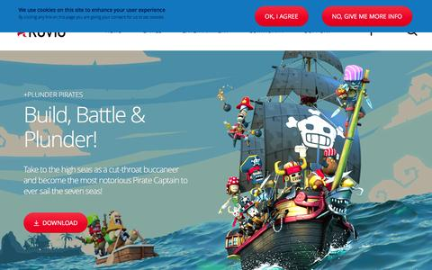 Screenshot of Home Page rovio.com - Rovio.com | The home of Rovio - maker of Angry Birds, Bad Piggies, Plunder Pirates and many more! - captured Dec. 21, 2015