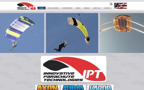 Screenshot of Home Page innovativeparachute.com - Innovative Parachute Technologies - captured Oct. 15, 2017