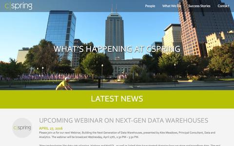 Screenshot of Press Page cspring.com - News - CSpring - captured July 10, 2016
