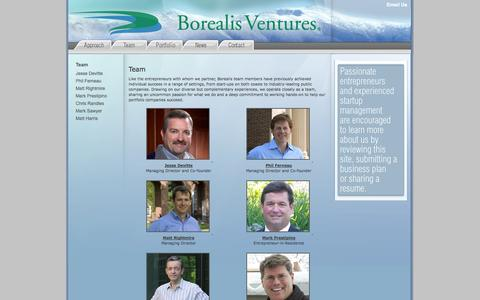 Screenshot of Team Page borealisventures.com - Borealis Ventures' - Team - captured Sept. 30, 2014