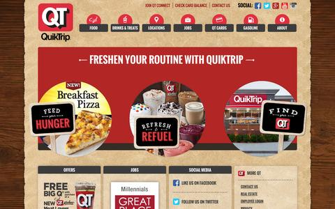 Screenshot of Home Page quiktrip.com - QuikTrip Corporation > Home - captured Oct. 1, 2015