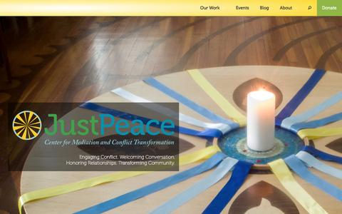 Screenshot of Home Page justpeaceumc.org - JustPeace UMC - captured Feb. 12, 2016