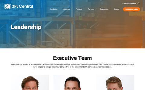 Screenshot of Team Page 3plcentral.com - Leadership team | 3PL Central Warehouse Management Software - captured Nov. 5, 2017
