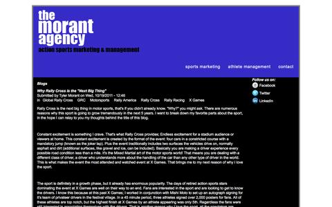 Screenshot of Blog themorantagency.com - Blogs | www.themorantagency.com - captured Dec. 22, 2016