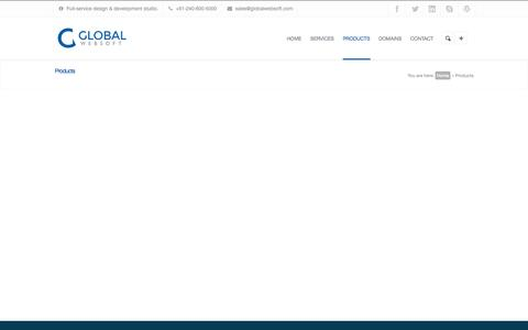 Screenshot of Products Page globalwebsoft.com - Products | Global Websoft - captured Sept. 30, 2014