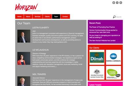 Screenshot of Team Page horizoncg.com.au - Team - Horizon - captured Oct. 3, 2014