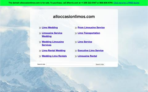 Screenshot of Home Page alloccasionlimos.com - alloccasionlimos.com - captured Oct. 3, 2018