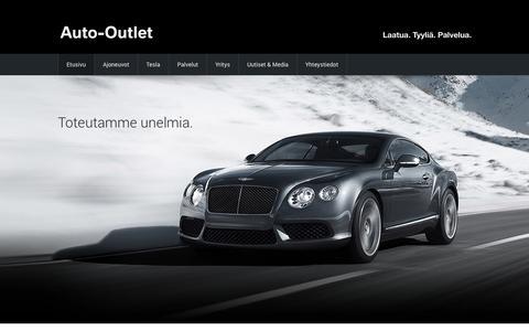 Screenshot of Home Page auto-outlet.fi - Täyden palvelun autokauppa | Auto-Outlet Helsinki/Tampere - captured Sept. 22, 2014