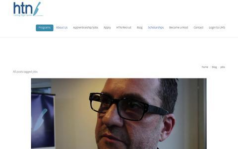 Screenshot of Jobs Page htn.com.au - Jobs | HTN - captured Aug. 11, 2017