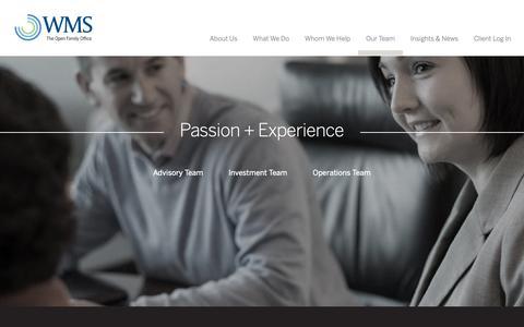 Screenshot of Team Page wms-partners.com - Team   WMS Partners - captured May 30, 2019