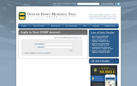 Screenshot of Login Page odmp.org - Log in to your account - captured Oct. 31, 2014