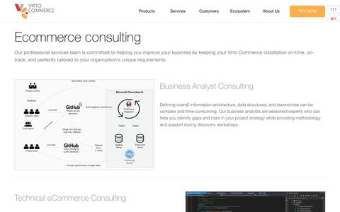 Screenshot of Services Page virtocommerce.com - Consulting - Virto Commerce - captured June 22, 2017