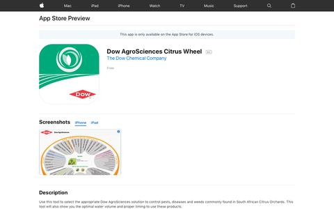 Dow AgroSciences Citrus Wheel on the AppStore