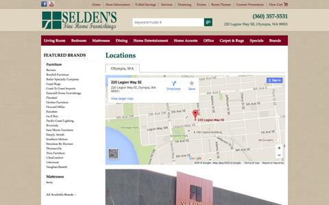 Screenshot of Contact Page Locations Page seldensofolympia.com - Contact Seldens of Olympia in Washington - captured Feb. 22, 2016