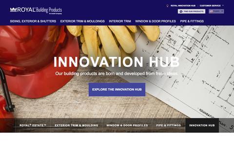 Screenshot of Home Page royalbuildingproducts.com captured Jan. 22, 2016