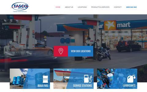 Screenshot of Home Page tascopetroleum.com.au - Quality Fuel & Lubricants - Tasco Petroleum - captured Dec. 20, 2016