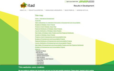 Screenshot of Site Map Page itad.com - Site map - Itad - captured Nov. 6, 2018