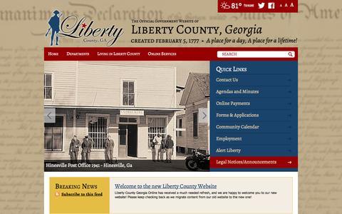Screenshot of Terms Page libertycountyga.com - Home / Liberty County, Georgia - captured Oct. 3, 2014