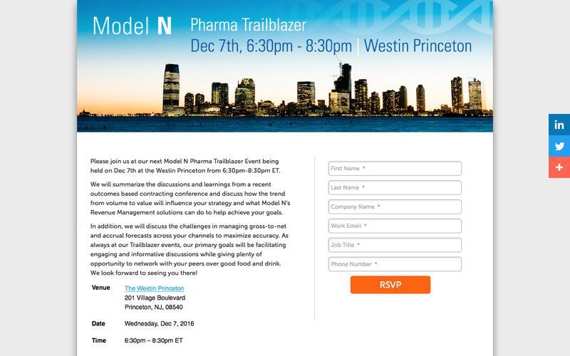 Model N| Join us at Pharma Trailblazer