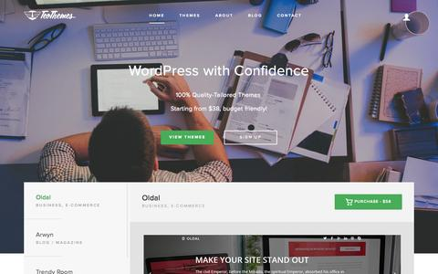 Screenshot of Home Page teothemes.com - TeoThemes - Premium WordPress Themes - captured Oct. 1, 2015