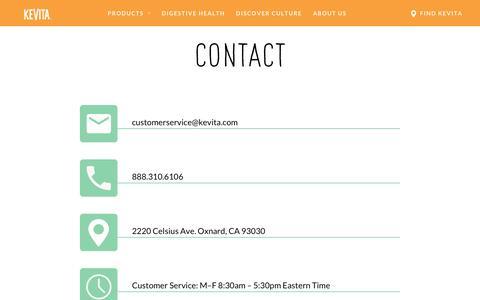 Contact Us - KeVita